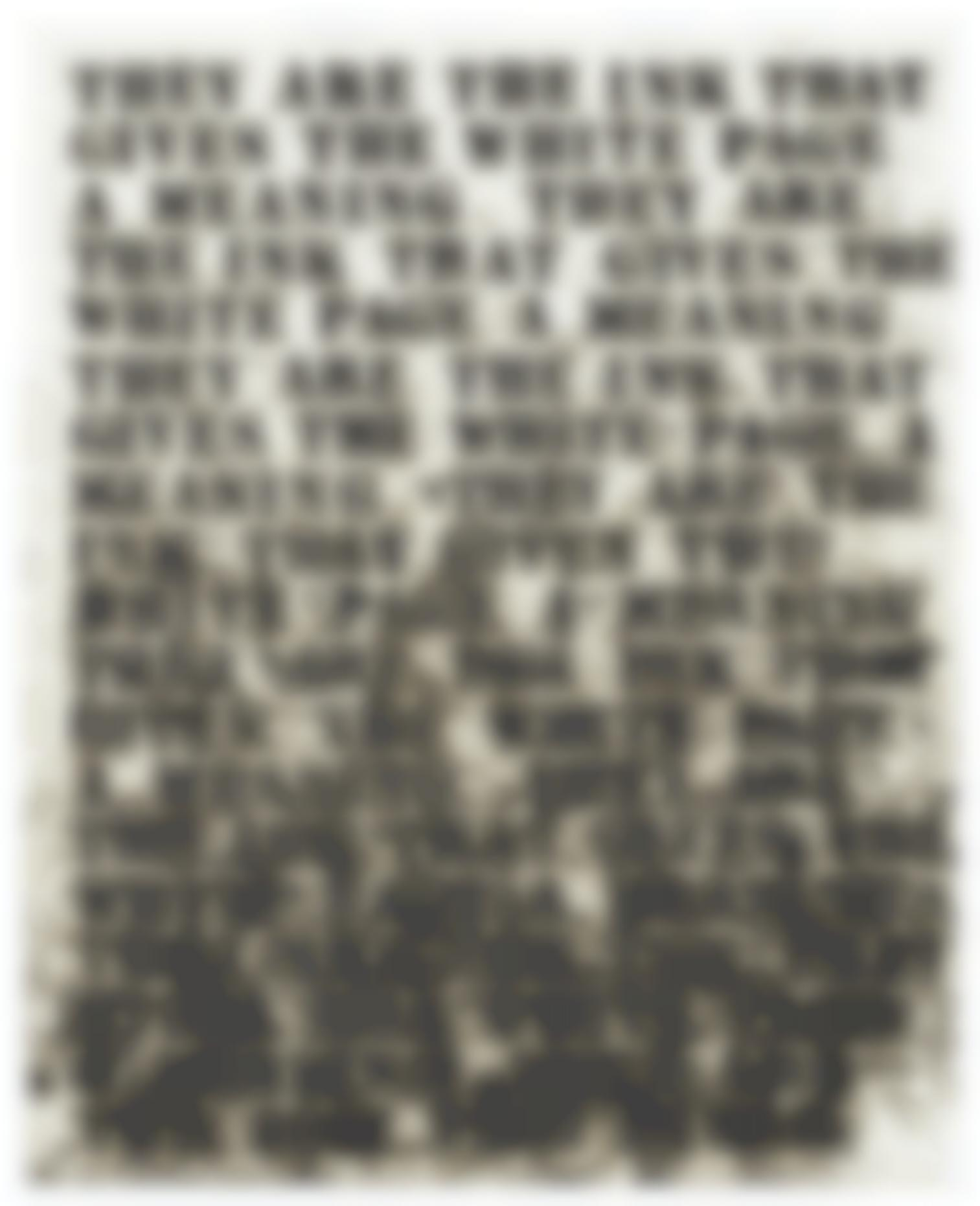 Glenn Ligon-Untitled (They Are The Ink...)-1992