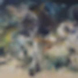Affandi-Horsemen-1964