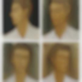 Stephan Balkenhol-Large Head Relief-2000