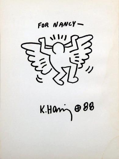 Lot 58 Keith Haring - Untitled (For Nancy), 1988 (28,5 x 21 cm)