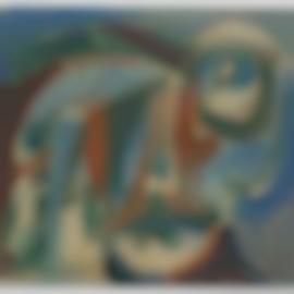 Pierre Alechinsky-Visage Dun Age Certain-1956