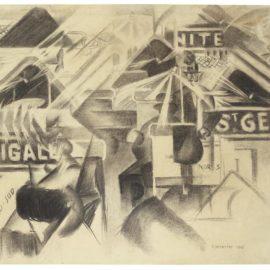 Gino Severini-La Ferrovia Nord-Sud-1913