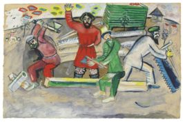 Marc Chagall-Les Charpentiers-1912