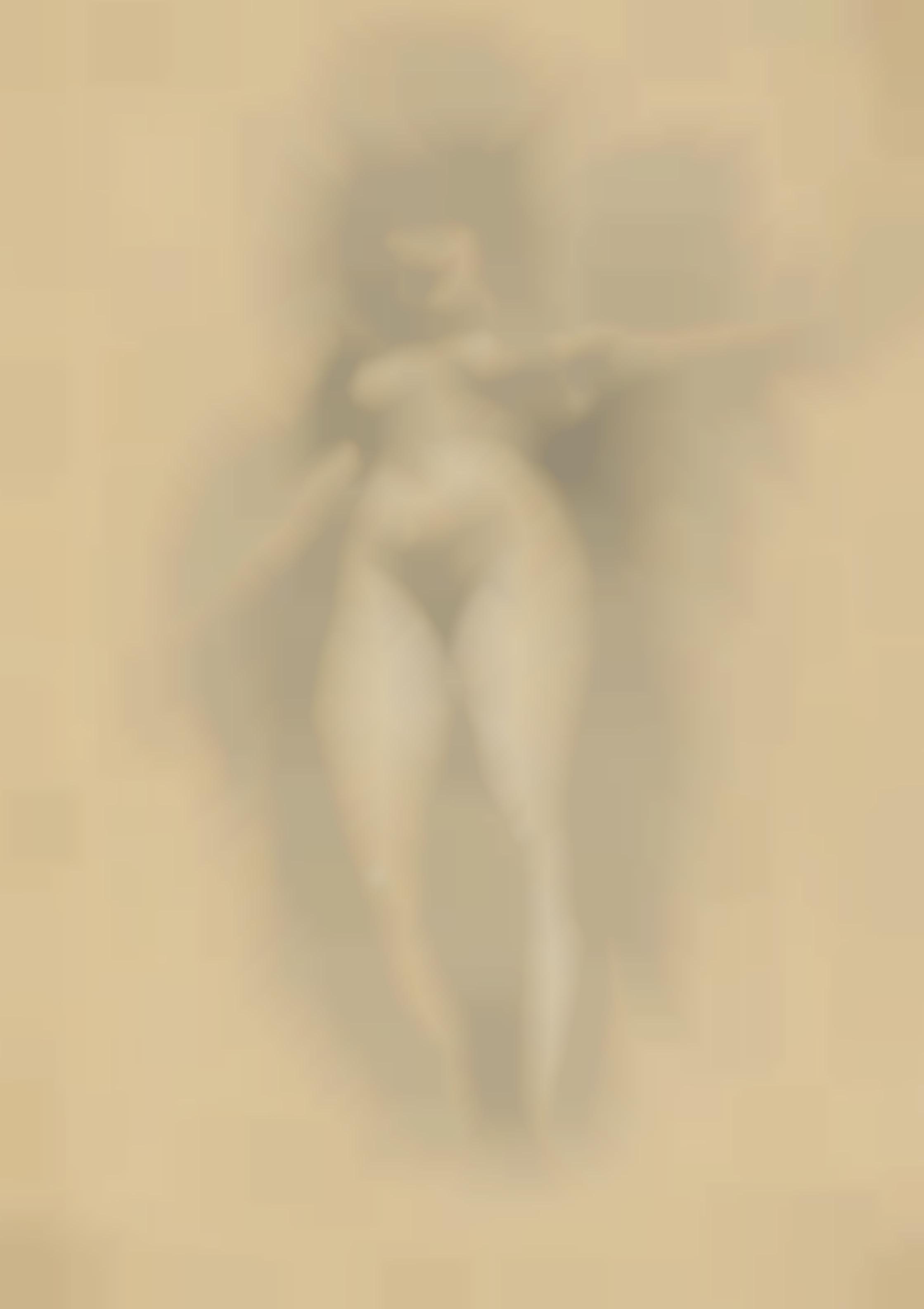 Gustav Klimt-Schwebende Vor Dunklem Hintergrund-1896