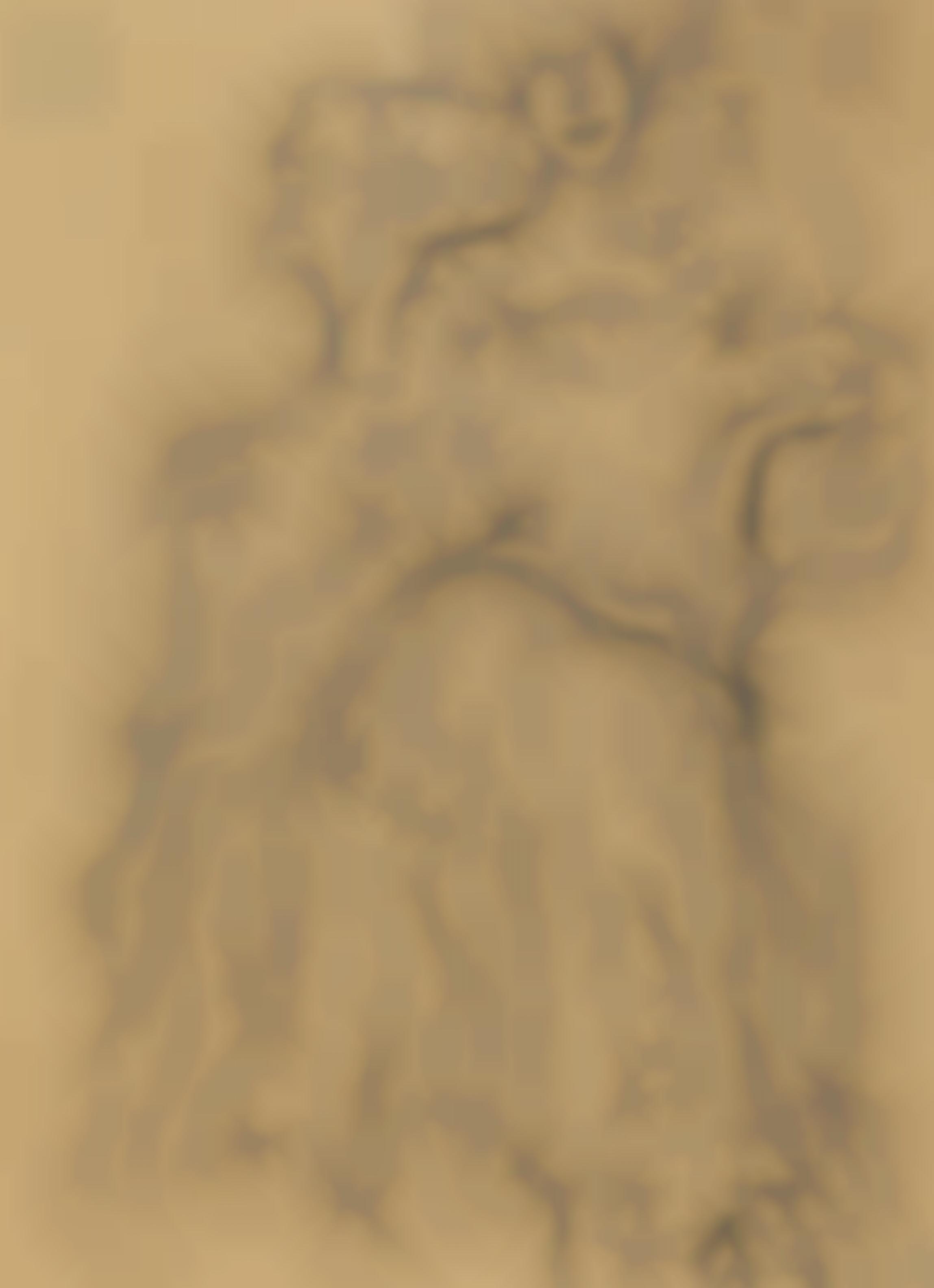 Gustav Klimt-Sitzend Von Vorne-1903