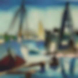 Karl Schmidt-Rottluff-Segelboote Im Hafen (Sailing Boats In The Harbour)-1937