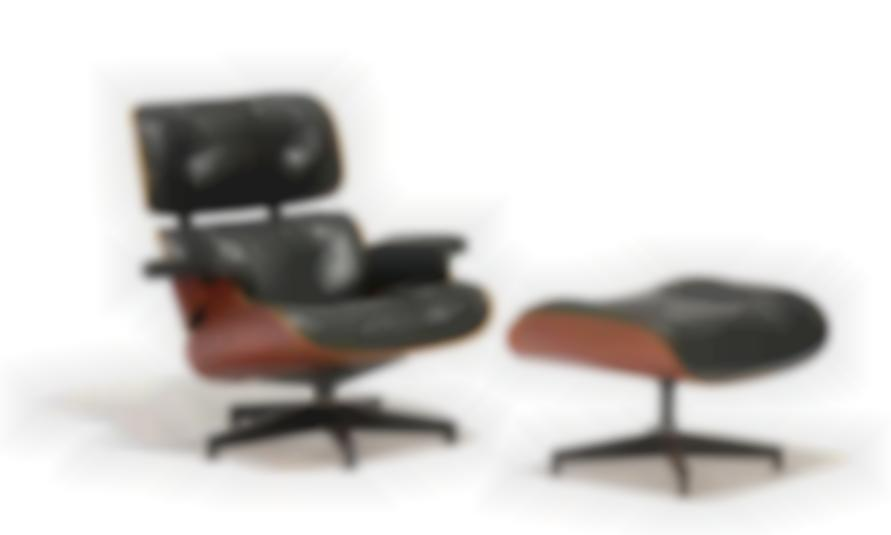 Charles and Ray Eames-Lounge Chair And Ottoman (2)-1956
