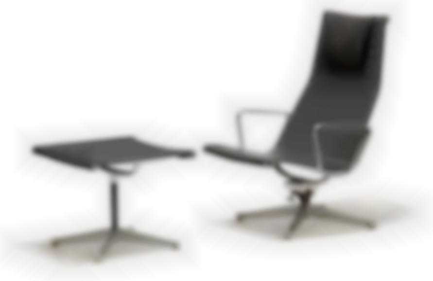 Charles and Ray Eames-Aluminum Group Reclining Lounge Chair And Ottoman (2)-1958