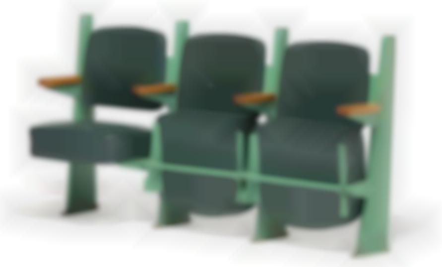 Jean Prouve-Row Of Three Lecture Theater Chairs-