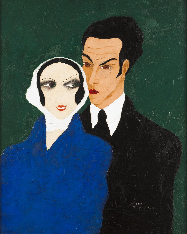 Alvaro Canelas-Sarah Afonso And Almada Negreiros Portrait-1929