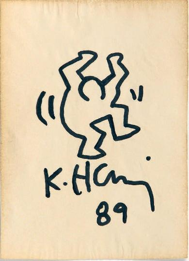 Lot 59a Keith Haring - Untitled, 1989 (13,2 x 9,5 cm)