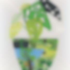 Jonas Wood-Landscape Pot With Plant-2017