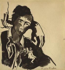 Francis Picabia-Sans Titre (Portrait Presume Damedeo Modigliani)-1933