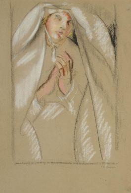 Tamara de Lempicka-Etude Pour La Communiante-1928