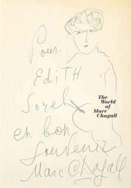 Marc Chagall-Le Peintre Pour Edith Sorel-1968