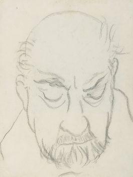 Denise Arokas - Portrait Dhenri Matisse-1952