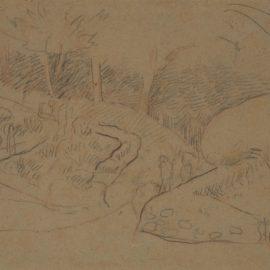 Paul Serusier-Le Chemin (Recto) ; Etude De Bretonnes (Verso)