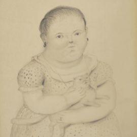 Fernando Botero-Petite Fille Au Chat-1973