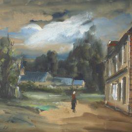 Maurice de Vlaminck-Vue De Village-1930
