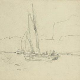 Pierre Bonnard-Voilier Devant Une Cote Rocheuse-1910