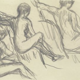 Pierre Bonnard-Etude De Nus Assis-1920