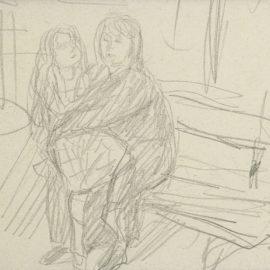 Pierre Bonnard-Femme Et Enfant Sur Un Banc