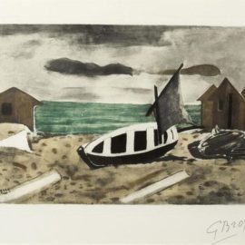 Georges Braque-Bateau A Terre-1965