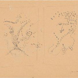 Lucio Fontana-Disegno Piccolo Bianco E Nero-1949