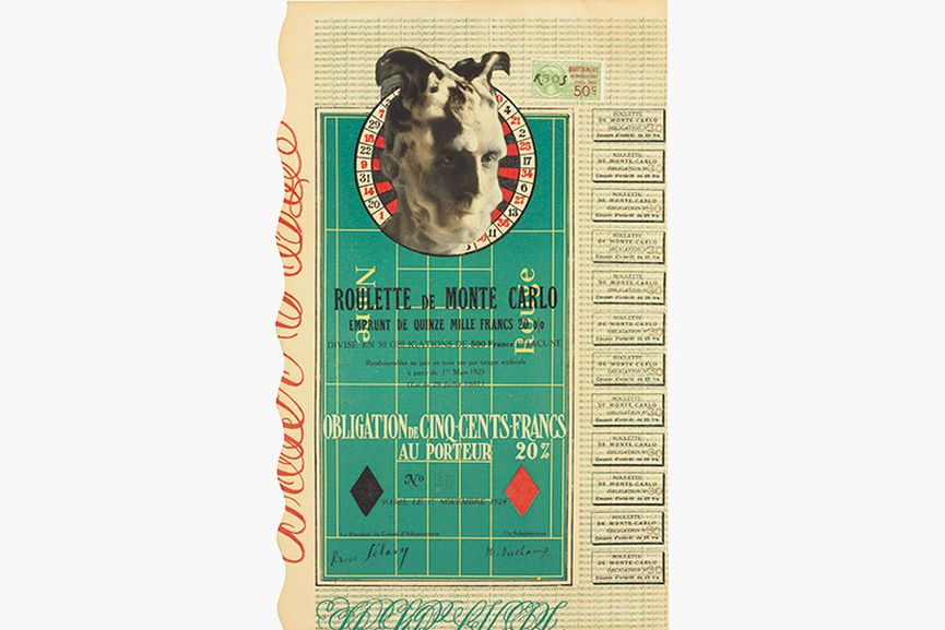 Marcel Duchamp Monte Carlo Bond No. 30