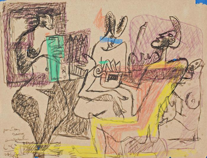 Le Corbusier-Musiciens a Bogota-1958