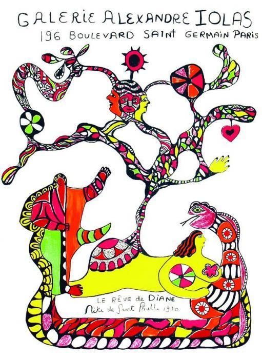 Niki de Saint Phalle-Niki de Saint Phalle - Le Reve de Diane. Galerie Alexandre I, (Galerie Alexandre Iolas, Paris)-1970