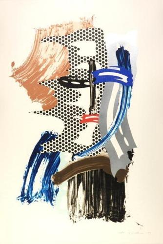 Roy Lichtenstein-The Mask (from Brushstroke Figures series)-1989