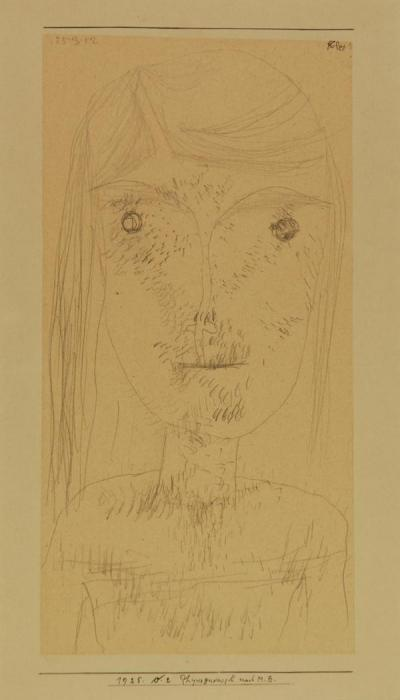 Paul Klee-Physiognomisch Nach M.B. (Physiognomic After M.B.)-1925