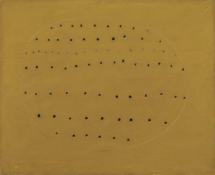 Lucio Fontana-Concetto spaziale-1960
