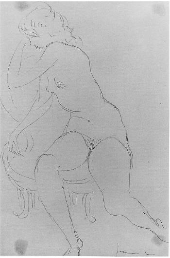 Lucio Fontana-Figura seduta-1957