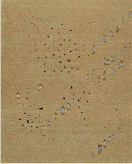 Lucio Fontana-Concetto spaziale-1953