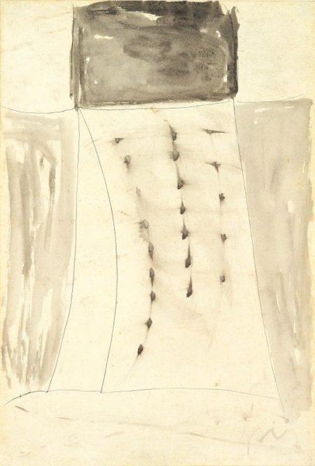 Lucio Fontana-Composizione-1957