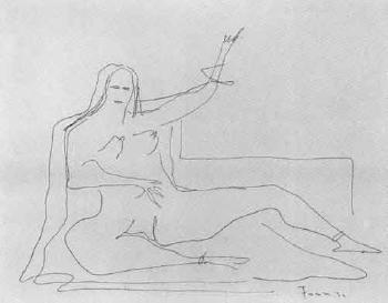 Lucio Fontana-Nudo femminile-1936
