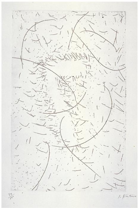 Lucio Fontana-Composizione (Il 7 magnetico)-1968