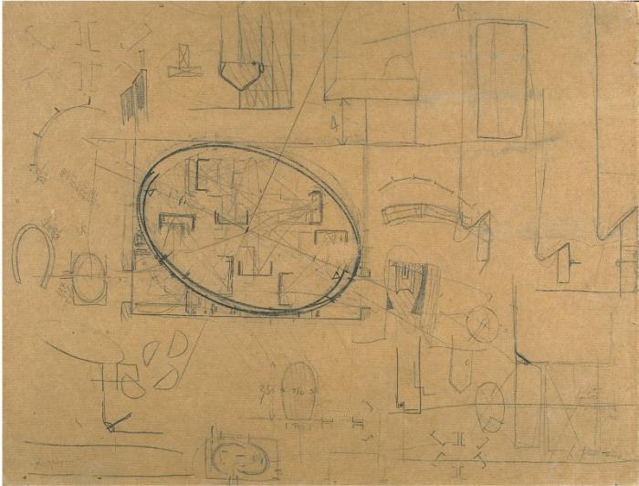 Lucio Fontana-Progetto per la sala alla XXXIII Biennale di Venezia-1966