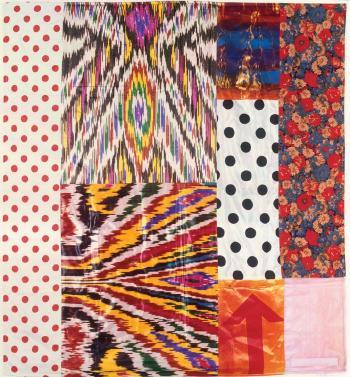 Robert Rauschenberg-Robert Rauschenberg - Samarkand Stitches # II (From Samarkand Stitches)-1988