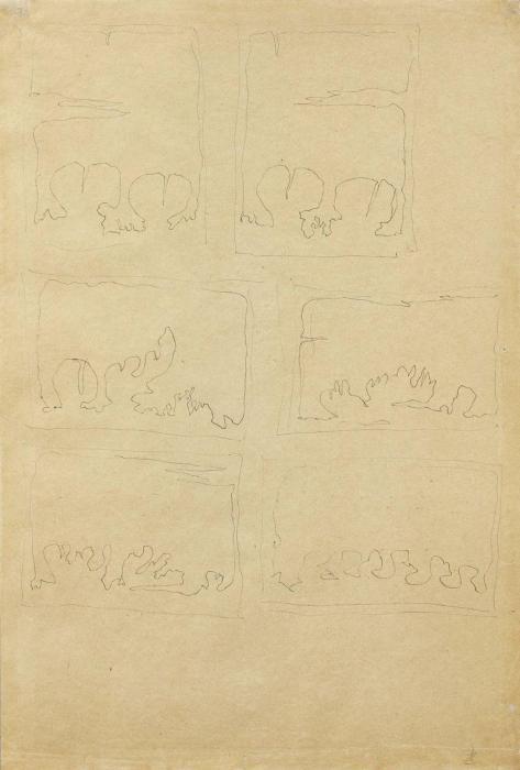 Lucio Fontana-Sei studi per Concetto spaziale, Teatrino-1965