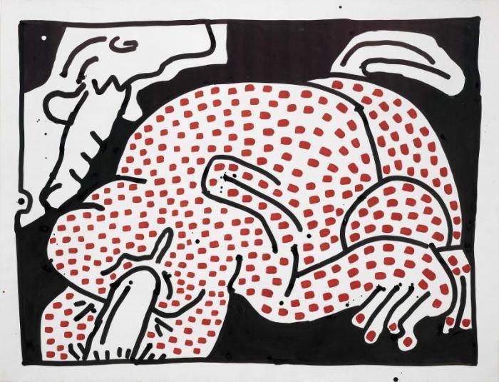 Keith Haring-Keith Haring - Senza titolo-1983