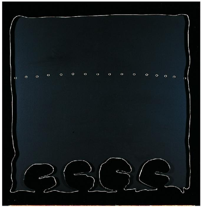 Lucio Fontana-Concetto spaziale, teatrino nero-1966