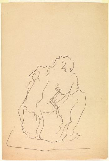 Lucio Fontana-Figura seduta-1945
