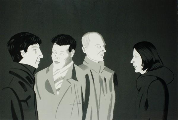 Alex Katz-Unfamiliar Image / Senza titolo (Schroder 346)-2001