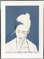 Alex Katz-Pamela in blue Michigan Opera Theatre Poster-1976