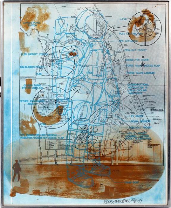 Robert Rauschenberg-Robert Rauschenberg - Trust Zone (From Stoned Moon Series)-1969
