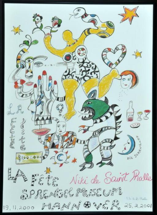 Niki de Saint Phalle-Ausstellungsplakat - La Fete, Sprengel Museum Hannover-2001