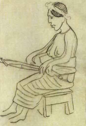 Diego Rivera-Mujer india sentada-1952
